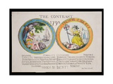 The Contrast 1793: British Liberty and French Liberty - Which Is Best 1793 Giclee Print by Thomas Rowlandson