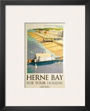 Herne Bay for your Holiday, BR (SR), c.1948 Poster by Frank Sherwin