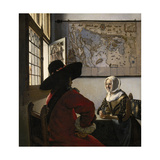 Amorous Couple, C.1657-58 Giclee Print by Jan Vermeer