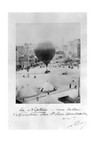 Le Neptune Hot Air Balloon Taking Off from Place St Pierre in Montmatre During the Siege of… Fotografisk trykk av  Nadar