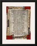 Firefighter's Prayer Print by Lisa Wolk
