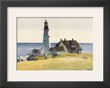 Lighthouse and Buildings, Portland Head, Cape Elizabeth, Maine, c.1927 Poster by Edward Hopper