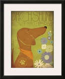 Dachsund Flower Market Prints by Stephen Fowler