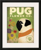 Pug Flower Co. Print by Stephen Fowler