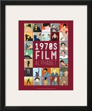 1970s Film Alphabet - A to Z Posters by Stephen Wildish