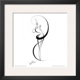 Dancing Silouhette III Poster by Alijan Alijanpour