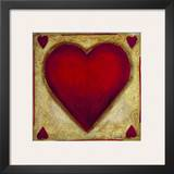 Hearts Print by Celeste Peters