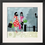 Girls Gone Shopping Print by Allison Pearce