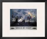Service by Night, BR, c.1955 Prints by David Shepherd