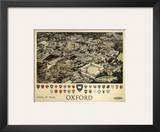 Oxford View from Air Print
