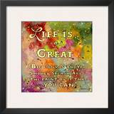 Life is Like a Great Big Canvas Prints by Janet Kruskamp