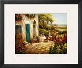 Sunny Terrace I Prints by Steven Harvey