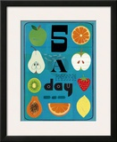 Five a Day Posters by Jessie Ford