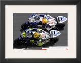 Valentino Rossi, Side by Side Prints by Ron Fisher