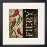 Fiery Jalapenos Prints by Jennifer Pugh