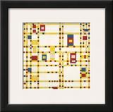 Broadway Boogie Woogie Print by Piet Mondrian
