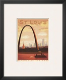 St. Louis, Missouri: Gateway To The West Print by  Anderson Design Group