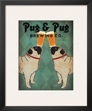 Pug and Pug Brewing Prints by Ryan Fowler