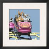 Riding on Roller Coaster Prints by John Lund