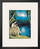 Hula Moon, Hawaiian Girl, c.1930 Framed Giclee Print