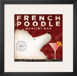 French Poodle Martini Posters by Stephen Fowler
