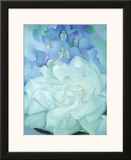 White Rose with Larkspur Poster by Georgia O'Keeffe