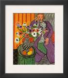Purple Robe and Anemones 1937 Print by Henri Matisse