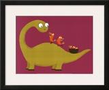 Joli Dino Art by Nathalie Choux