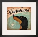 Daschund Wine Art by Stephen Fowler