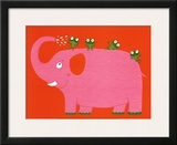 The Elephant and the Frog Prints by Nathalie Choux
