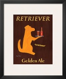 Retriever Golden Ale Art by Ken Bailey