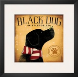Black Dog Mistletoe Prints by Stephen Fowler