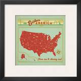 Explore America Square Print by  Anderson Design Group