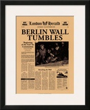 Berlin Wall Tumbles Poster