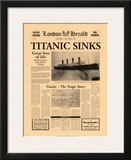 Titanic Sinks Poster