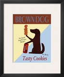 Brown Dog Tasty Cookies Art by Ken Bailey