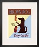 Brown Dog Tasty Cookies Art by Ken Bailey