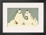 Snow Family Print by Warren Kimble