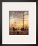 The Harbour of Greifswald Prints by Caspar David Friedrich