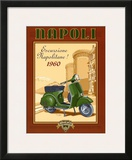 Napoli Scooter Prints by Bruno Pozzo