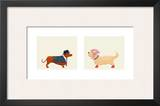 City Dogs Art Print by Kate Mawdsley