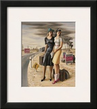 Oil Field Girls, c.1940 Prints by Jerry Bywaters