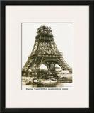Tour Eiffel September 1888 Yellow Screen Poster