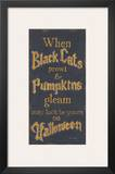 Black Cats Posters by Kim Lewis