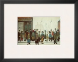 Waiting for the Shop to Open Posters by Laurence Stephen Lowry