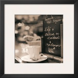 Café, Champs-Élysées Print by Alan Blaustein