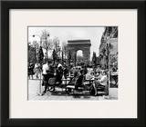 Café on the Champs Elysees, Paris, 1960 Poster
