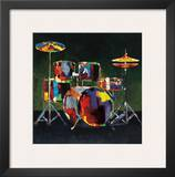 Drum Set Prints by Elli & John Milan
