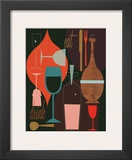 Eat & Drink Framed Giclee Print by Jenn Ski