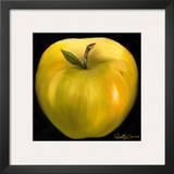 Yellow Apple Art by Nelly Arenas